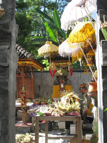 decorated house temple
