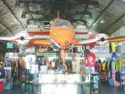 Airplane in a surf shop