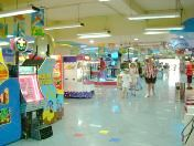 Amusement area under a department store